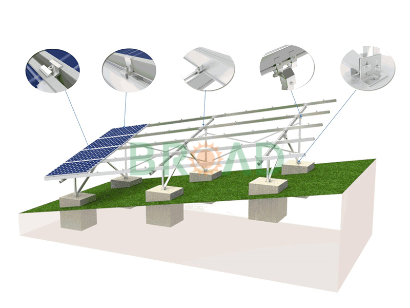 concrete solar mounting on uneven land