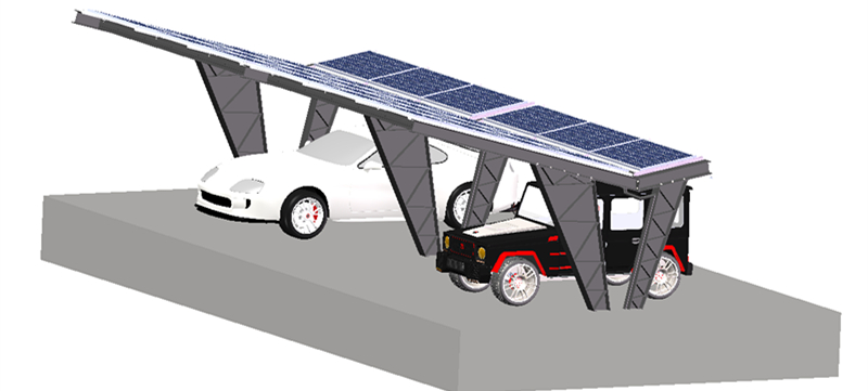 carport with solar panels installed