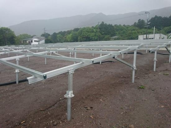 solar mounting systems with ground screws as foundation