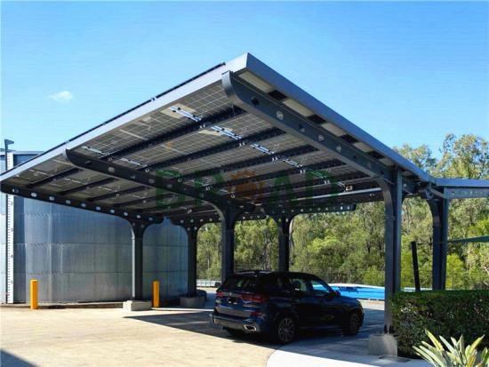 BIPV waterproof solar carport structure